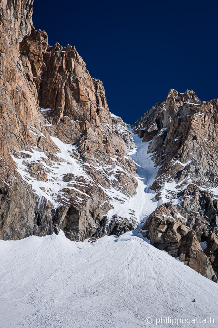 Y couloir seen from the bottom (� P. Gatta)