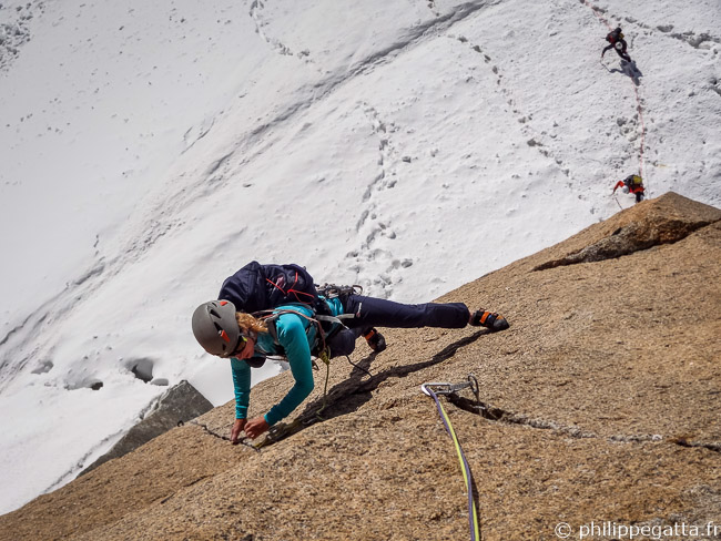 Anna in the 2nd pitch, 6a (© P. Gatta)