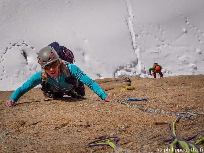 Anna in the top of the 3rd pitch (© P. Gatta)