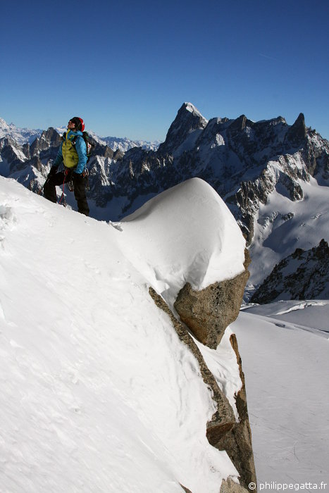 Anna in the Cosmiques ridge (© P. Gatta)