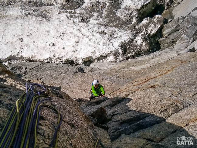 2nd pitch of La Dame du Lac (© P. Gatta)