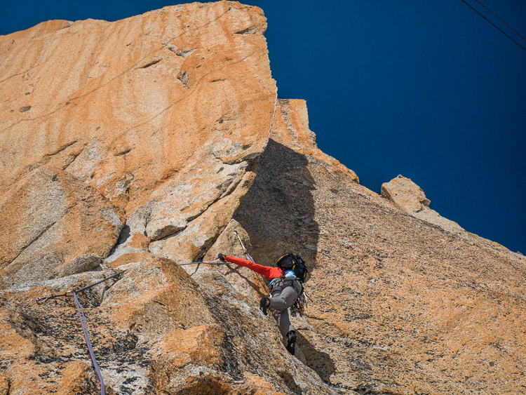 Kohlmann: beginning of pitch #8, 6a+ (© M. Baduel)