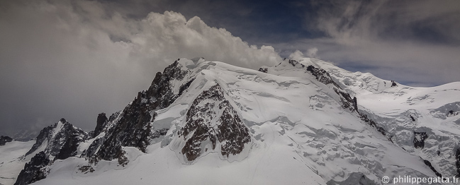 Thunderstorm coming on Mont Blanc du Tacul, Mont Maudit and Mont Blanc (© P. Gatta)