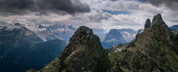 Dramatic sky on the top of Aiguilles de Van (© P. Gatta)