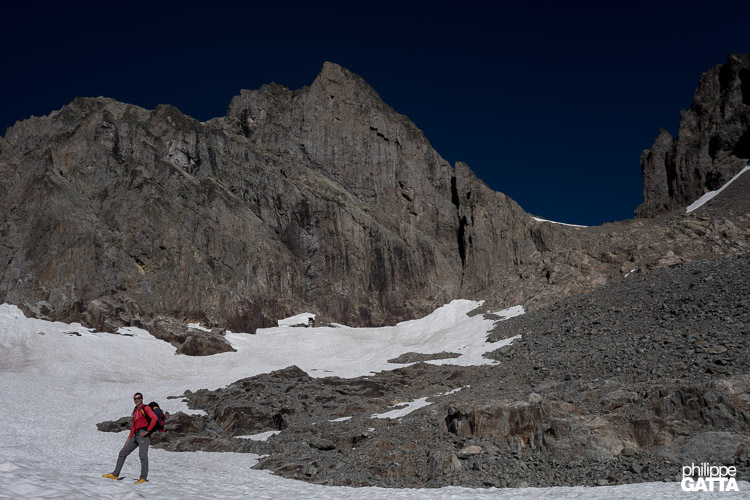 Aiguille du Belvédère in the background (© A. Gatta)