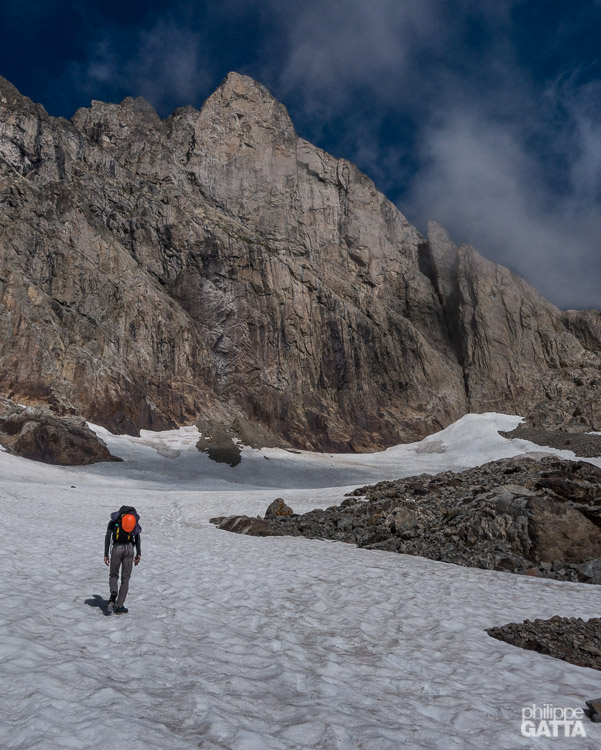 On the way to the Aiguille du Belvédère (© A. Gatta)
