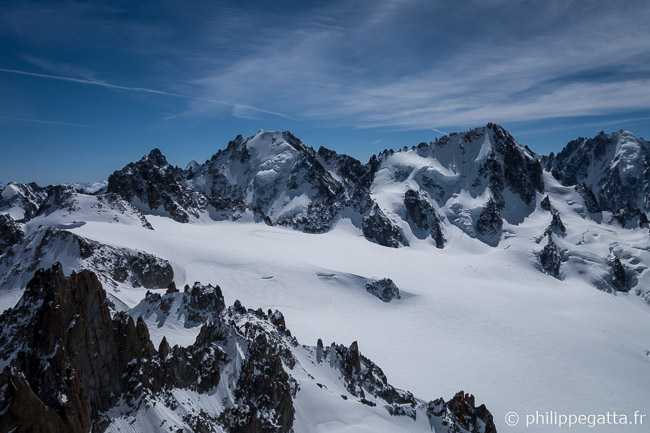 Aiguilles du Tour Noir, Argentiere, Chardonnet and Verte from the top of Tour (© P. Gatta)