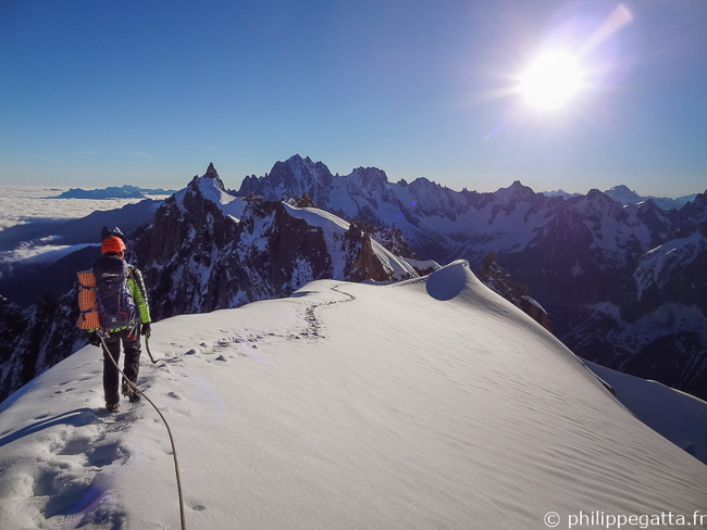 Between Aiguille du Midi and Aiguille du Plan (© A. Chabot)