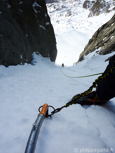 First part of the West Couloir of Gelas (© Philippe Gatta)