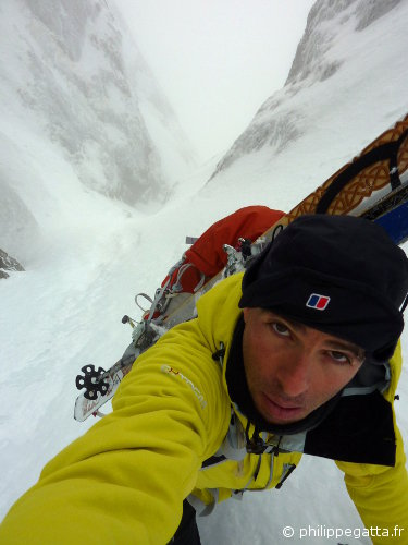 In the Couloir Oublié of mont Ponset (© P. Gatta)