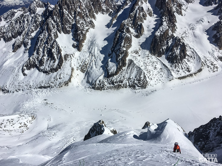 The final climb of Couturier Couloir (© M. Baduel)