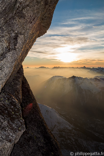 Sunset from Les Drus (© P. Gatta)
