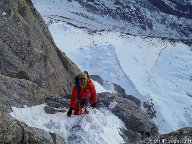 First pitch above the bivouac (© A. Chabot)