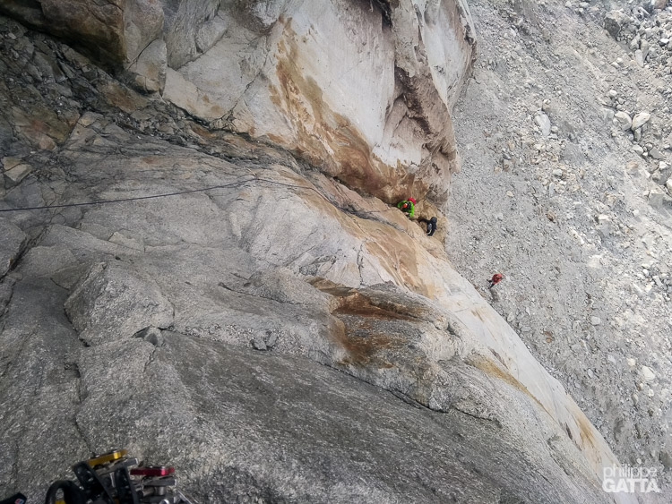 1st pitch of the new access to Flammes de Pierre (© P. Gatta)