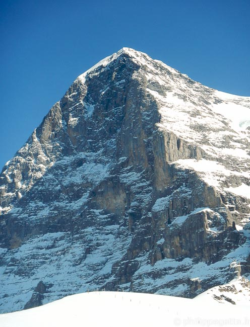 North Face of Eiger seen from the Kleine Scheidegg (© Philippe Gatta)