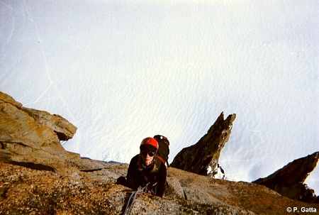 Anna Gatta in the last pitch with the Trident below (� P. Gatta).