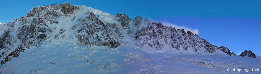 North Faces of Grande Rocheuse, Aiguille Verte, Aiguille Carrée, Grands Montets (© P. Gatta)