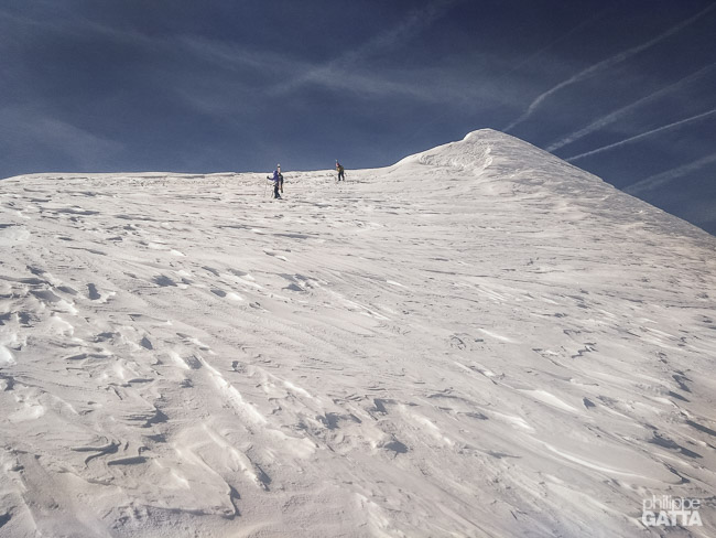 Two climbers on the way down from Combin de Grafeneire (© P. Gatta)