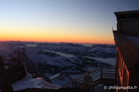 Sunset from T�te Rousse hut (� P. Gatta)