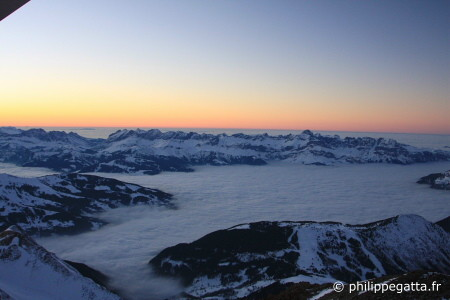 View from T�te Rousse hut in winter (� P. Gatta)