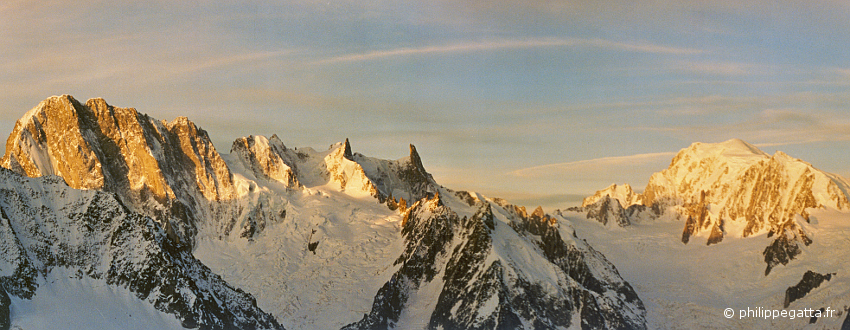 View from the top of Aiguille Verte (� P. Gatta)