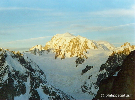 Mont Blanc seen from the top Aiguille Verte (� P. Gatta)