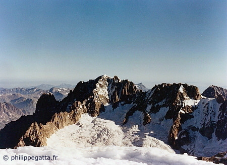 Drus, Auiguille Verte (Whymper) and Droites seen from Jorasses (� P. Gatta)