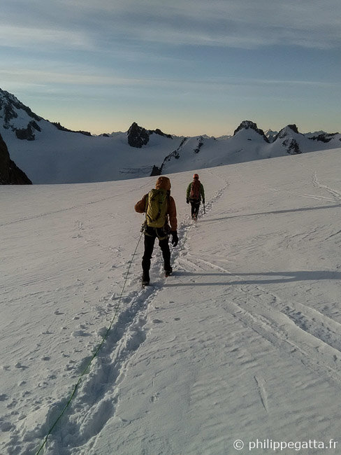 On the way to the Couloir Macho (© P. Gatta)