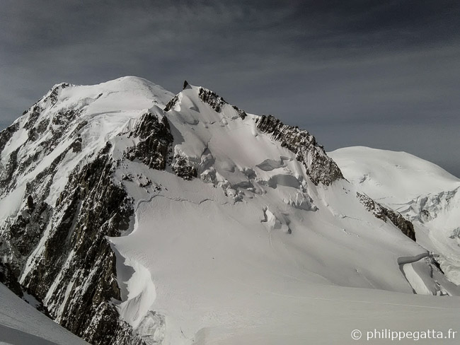Mont Maudit and Mont Blanc behind (© P. Gatta)