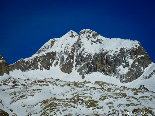 Southwest ridge of Gelas on the left (© P. Gatta)