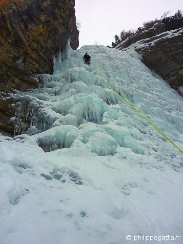 Left ice fall (Cascade) of Gialorgues (© A. Gatta)