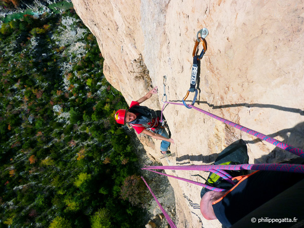 Anna in the 4th pitch of Masotherapie (© P. Gatta)