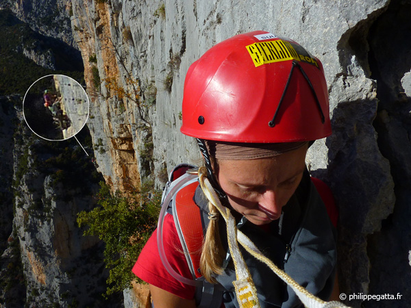 Anna in Masotherapie, two climbers in Cocotte minute (� P. Gatta)