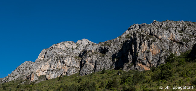 The crag of La Brigue (© P. Gatta)