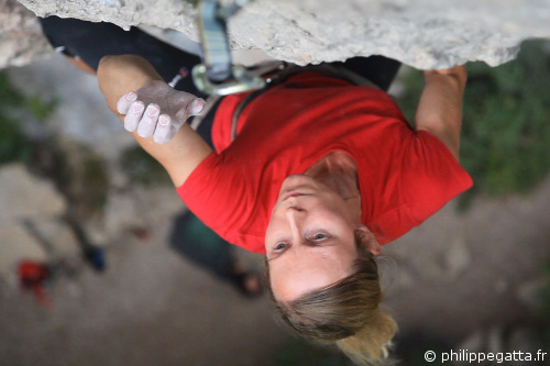 Anna Gatta in Arrow Head, 8a (� P. Gatta)