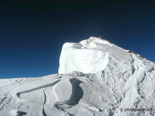 Everest summit ridge (� P. Gatta)