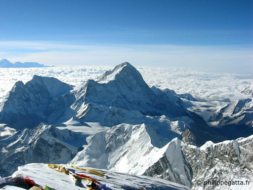 Makalu from summit of Everest (� P. Gatta)