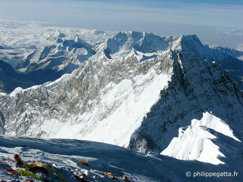 Lhotse from summit of Everest (� P. Gatta)
