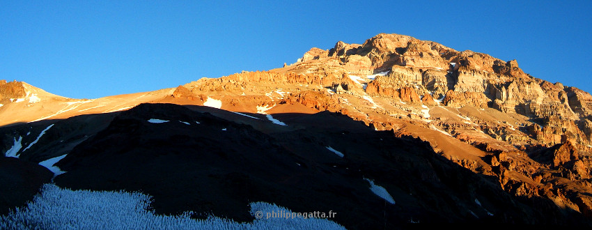 Sunset on Aconcagua West Face (� P. Gatta)