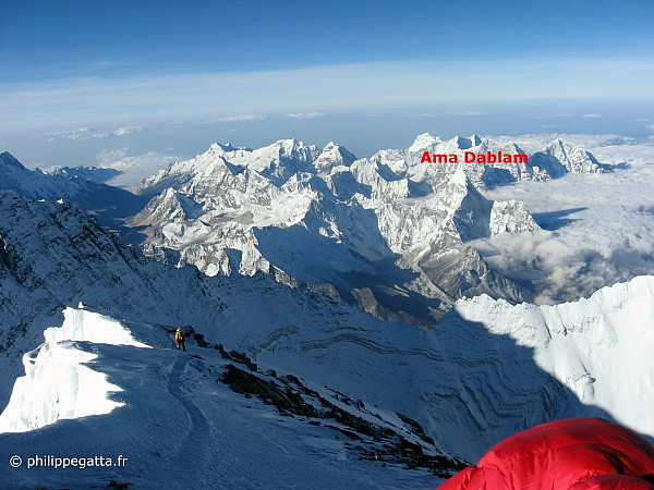 Ama Dablam seen from the top of Mount Everest (Photo � P. Gatta)