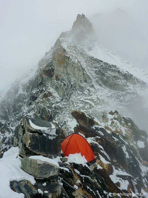 C2 and SW ridge in the snow (Photo � P. Gatta)