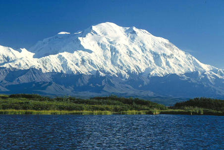 View of Denali from the North (Wikipedia / NPS)