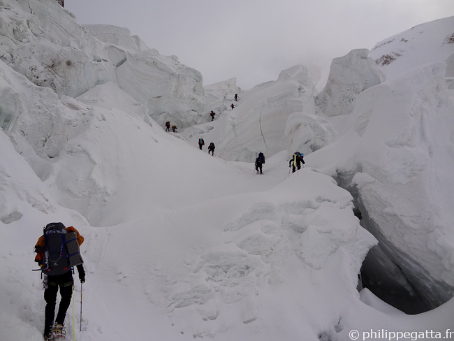 The icefall between camp 1 and 2 (� P. Gatta)