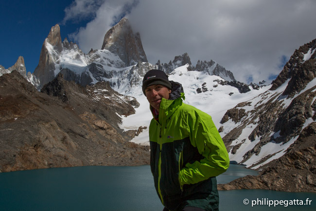 Philippe with Fitz Roy behind (© P. Gatta)