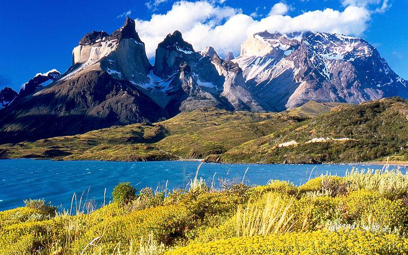 Torres del Paine, Patagonia (Wikimedia)