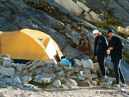 Camp 1 of Chopicalqui (© P. Gatta)