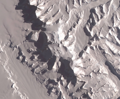Satellite image of Vinson Massif