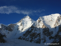 Photos of Gasherbrum, K2, Trango Tower and Broad Peak (� P. Gatta)
