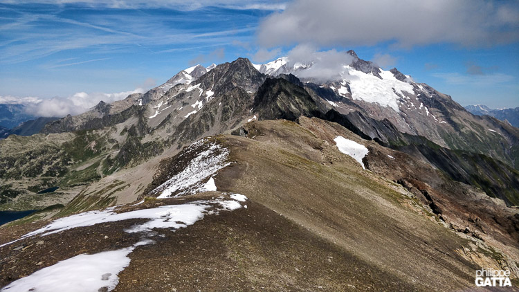 Looking toward Mont Blanc from Tête des Fours (© P. Gatta)