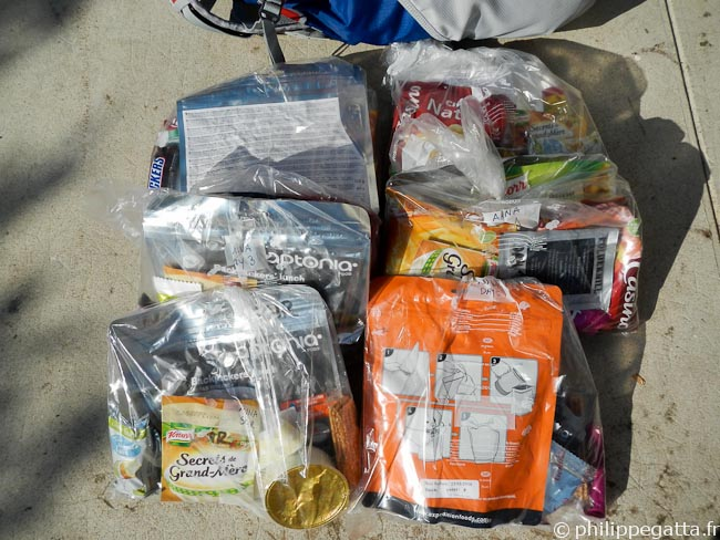 The food for the Atacama Race (© P. Gatta)
